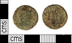 A resized image of Roman coin : Nummus of Constantine I