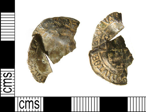 WILT-519D67: Early Post-Medieval coin : incomplete Groat of Henry VIII