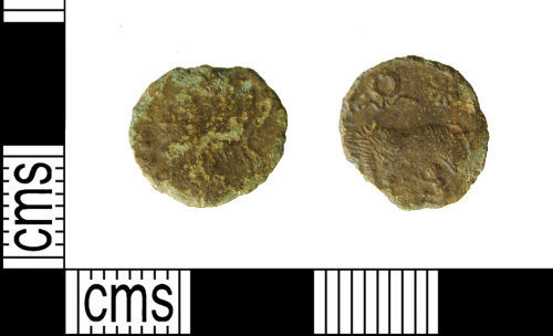 A resized image of Roman coin : Contemporary copy of an Urbs Roma nummus