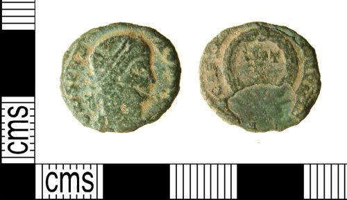 WILT-CE2B82: Roman coin : Nummus of Crispus