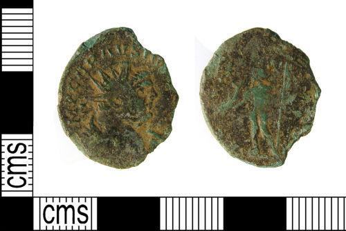 WILT-EE5B13: Roman coin : Radiate of Carausius