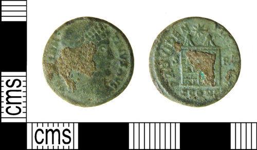 WILT-A95A56: Roman coin : Nummus of Constantine I