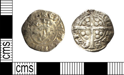 WILT-1672C4: Medieval coin : Penny of Edward I or II