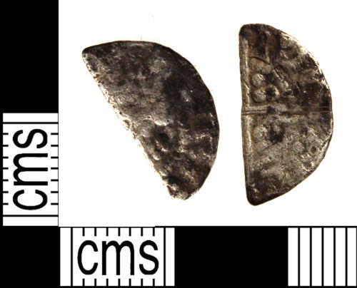 WILT-C0AA33: Medieval coin : Cut halfpenny of Henry III