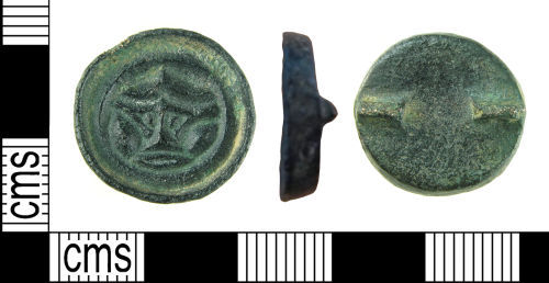 A resized image of Early Early-Medieval button brooch