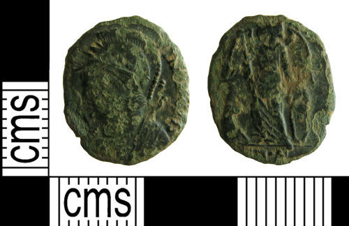 HAMP-2EF2E4: Roman coin : contemporary copy of a nummus of the House of Constantine