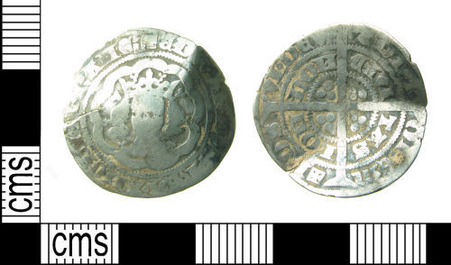 HAMP-8D7035: Medieval coin : Halfgroat of Edward III