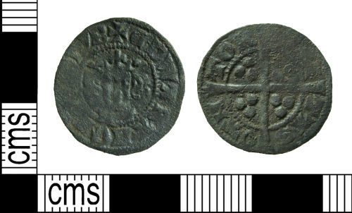 HAMP-AAB723: Medieval coin : contemporary copy of a penny of Edward I/ II