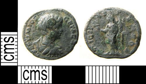 HAMP-CCC8C2: Roman coin : contemporary copy of a denarius of Geta