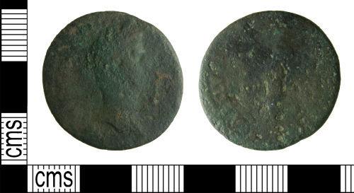 HAMP-D50AE0: Roman coin : As of Nerva