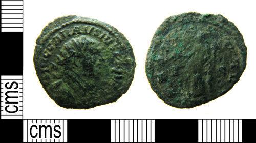 HAMP-F5A7F7: Roman coin : Radiate of Carausius