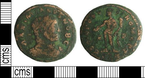 HAMP-FAC4C1: Roman coin : Nummus of Maximian