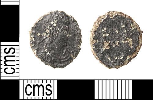 HAMP-0417F8: Roman coin : nummus of Constantius II or Constans