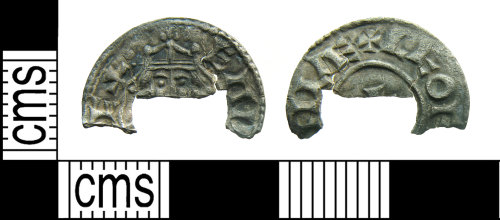 HAMP-135B8F: Early-medieval coin : penny of Edward the Confessor (incomplete)