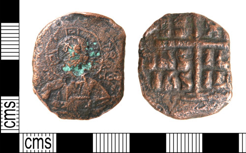 HAMP-1C2AF1: Byzantine coin : Follis attributed to Romanus III