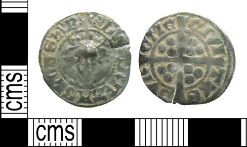 HAMP-1C553F: Medieval coin : penny of Edward I/ II