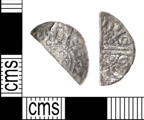HAMP-1F0C8B: Medieval coin : cut halfpenny of Henry III