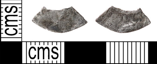 HAMP-3A167A: Medieval coin : possible cut halfpenny fragment of uncertain ruler
