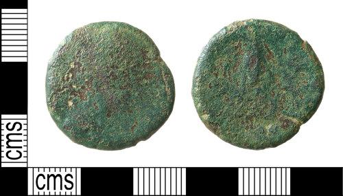 HAMP-3AF5DA: Roman coin : sestertius of uncertain emperor