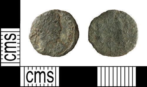 HAMP-3AF73E: Roman coin : nummus of Constantius II or Constans