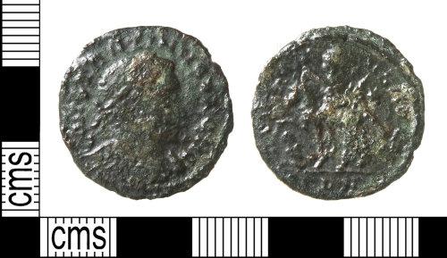 HAMP-455DA7: Roman coin : nummus of Constantine I