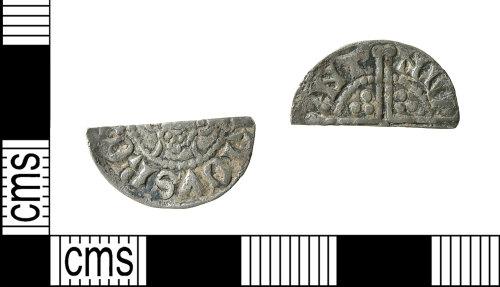 HAMP-4644B7: Medieval coin : cut halfpenny of Henry III