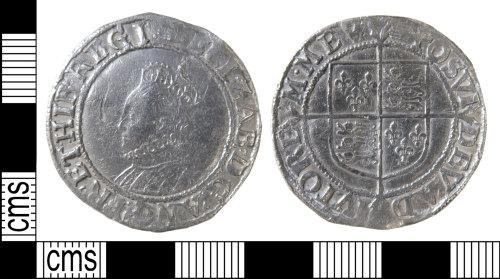 HAMP-4769E1: Post-medieval coin : shilling of Elizabeth I