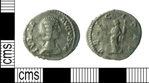 HAMP-4F0956: Roman coin : denarius of Julia Domna