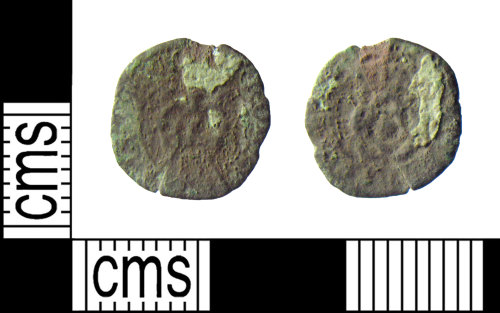HAMP-4FC08B: Post-medieval coin : rose farthing of Charles I