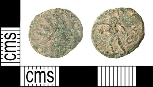HAMP-551B41: Roman coin : barbarous radiate of uncertain emperor