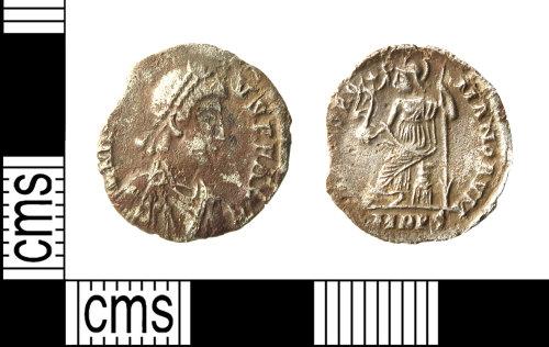 HAMP-592D05: Roman coin : siliqua of Arcadius
