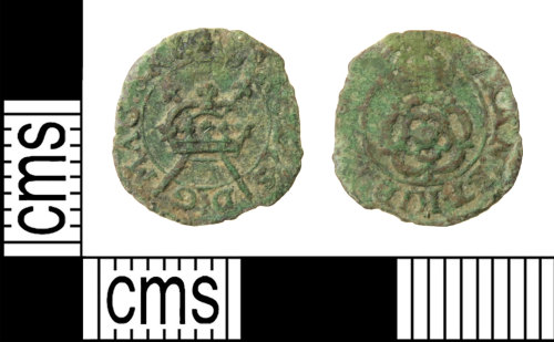 HAMP-5AC2F9: Post-medieval coin : rose farthing of Charles I