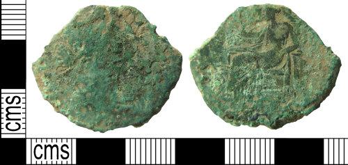 HAMP-6483D0: Roman coin : sestertius of probably Faustina II under Marcus Aurelius