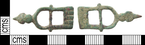 HAMP-649E01: Late medieval/ early post-medieval buckle