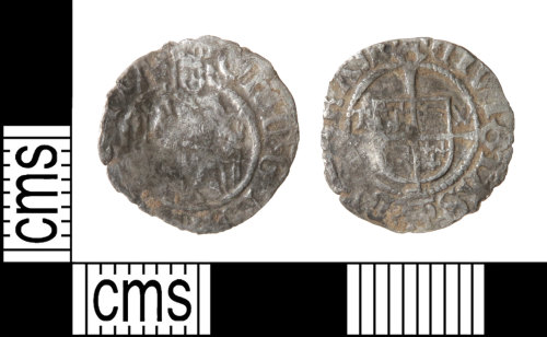 HAMP-675EF4: Post-medieval coin : penny of Henry VIII