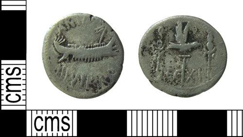 HAMP-751426: Roman coin : 'legionary' denarius of Mark Antony