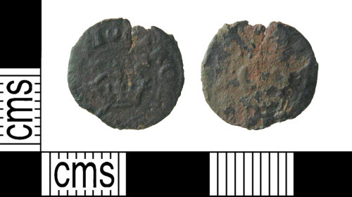 HAMP-83ED8A: Post-medieval coin : rose farthing of Charles I