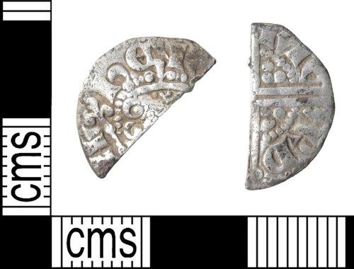 HAMP-891BAE: Medieval coin : cut halfpenny of Henry III