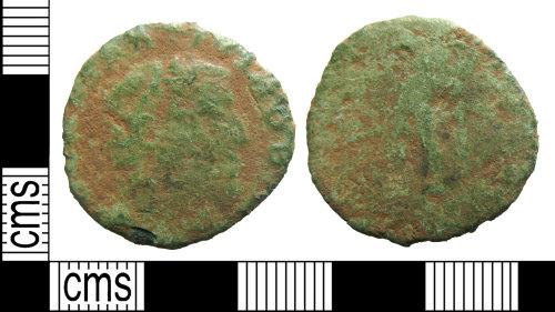 HAMP-8A6C98: Roman coin : nummus of Constantius I as Caesar