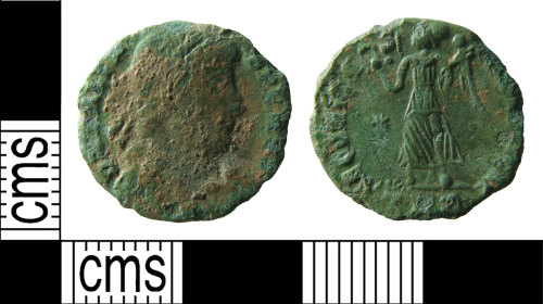 A resized image of Roman coin : nummus of Valens