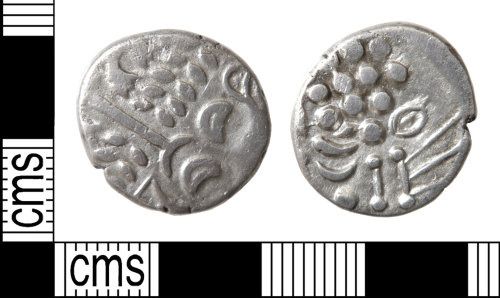 HAMP-8B6CA7: Iron Age coin : uninscribed silver stater of the Durotriges