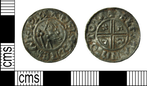 HAMP-8B9F0D: Early-medieval coin : penny of Aethelred II