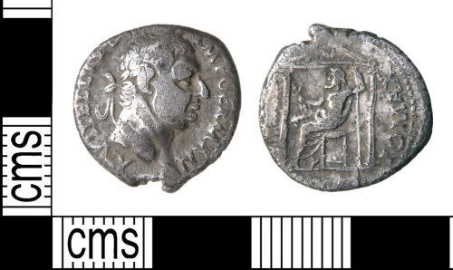 A resized image of Roman coin : denarius of Vitellius