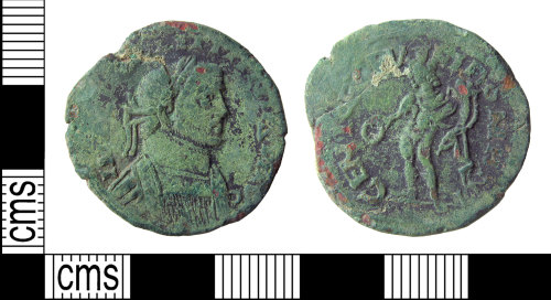 A resized image of Roman coin : nummus of Diocletian