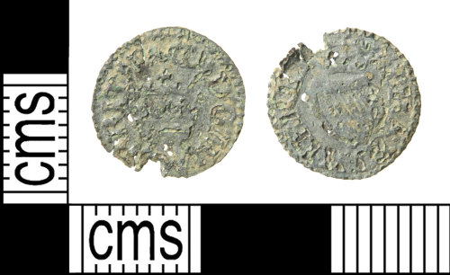HAMP-9287A6: Post-medieval coin : farthing of James I