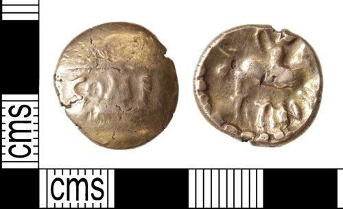 HAMP-92BE19: Iron Age coin : stater of Tincomarus