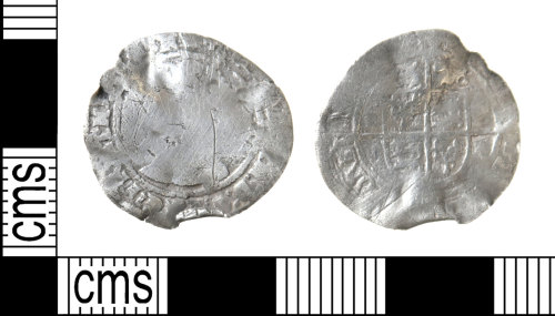 HAMP-950958: Post-medieval coin : threepence of Elizabeth I