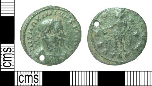 HAMP-95A15B: Roman coin : nummus of Maximian