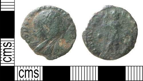 HAMP-971C45: Roman coin : nummus of Constantine I