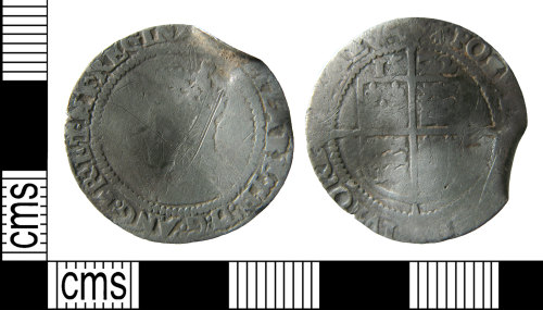 HAMP-9F53C1: Post-medieval coin : Sixpence of Elizabeth